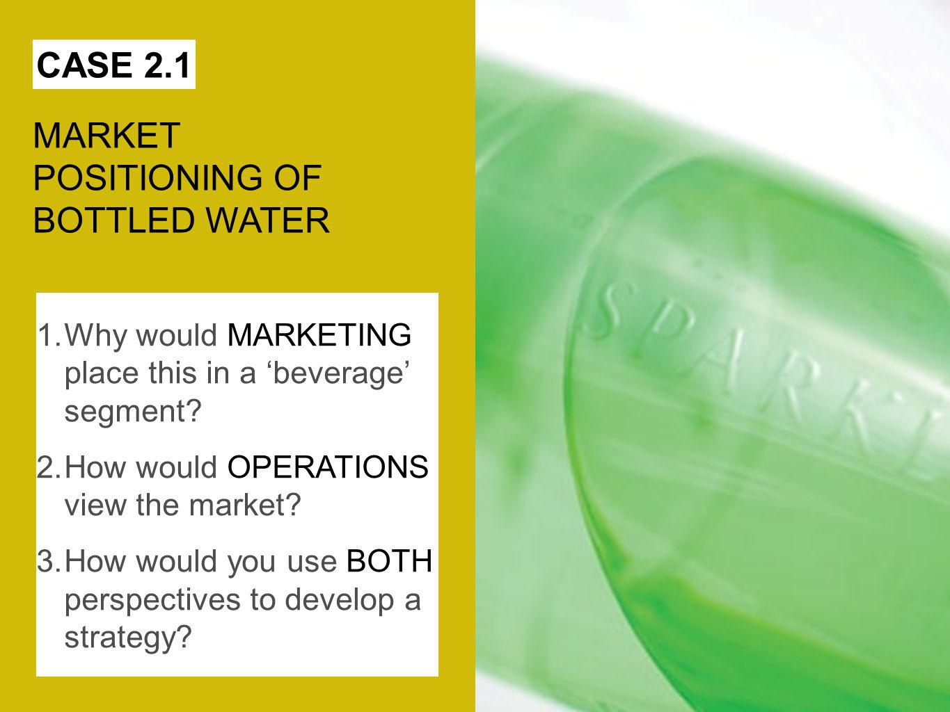 MARKET POSITIONING OF BOTTLED WATER