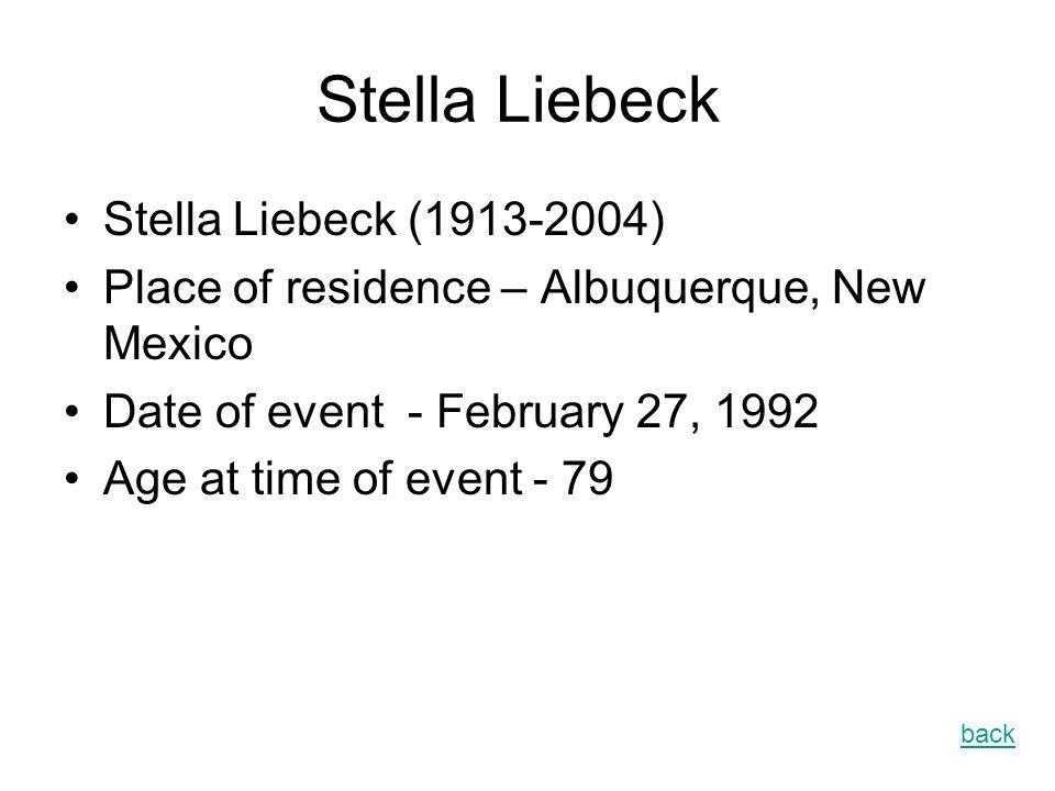 Stella Liebeck Stella Liebeck (1913-2004)