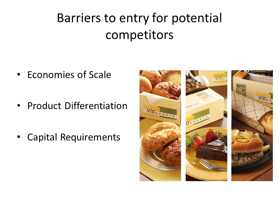 Barriers to entry for potential competitors