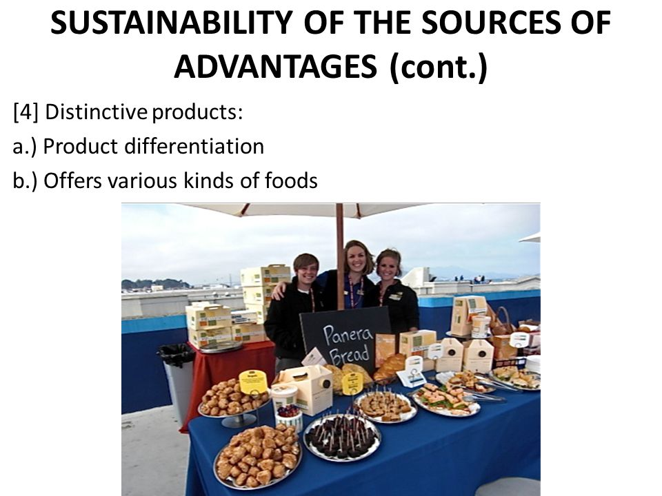 SUSTAINABILITY OF THE SOURCES OF ADVANTAGES (cont.)