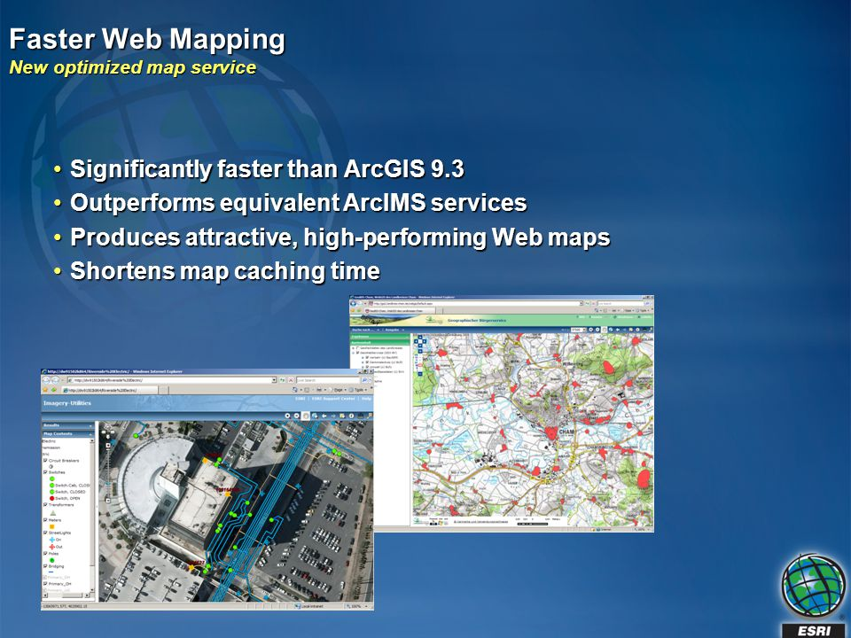 Faster Web Mapping New optimized map service