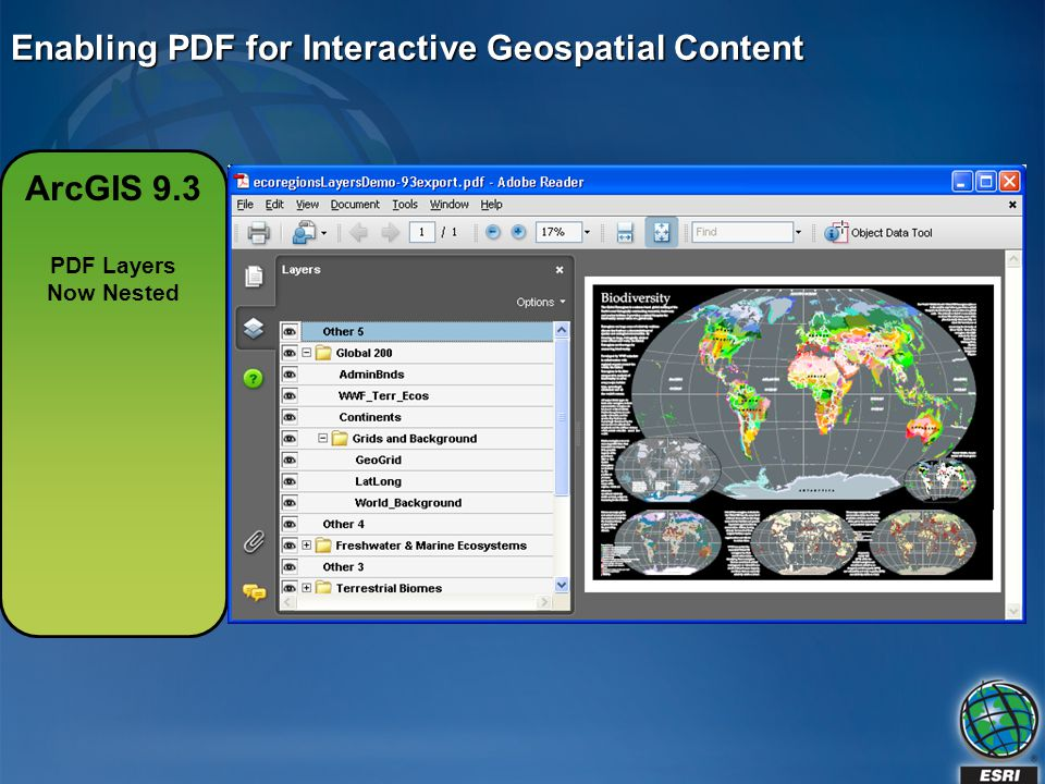 Enabling PDF for Interactive Geospatial Content