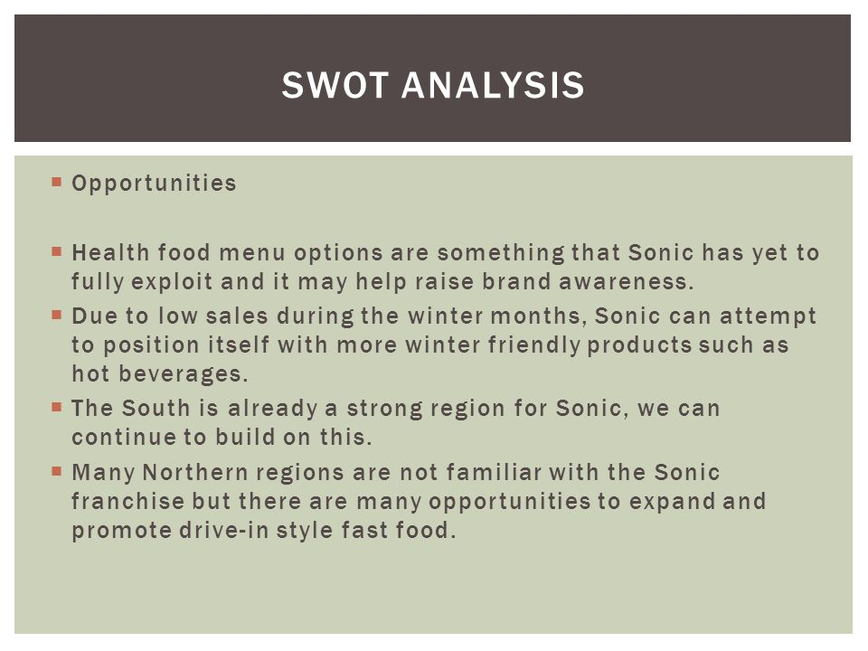 SWOT Analysis Opportunities