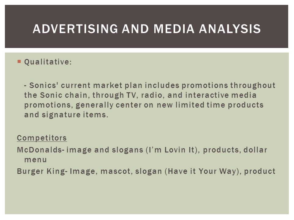 Advertising and Media Analysis