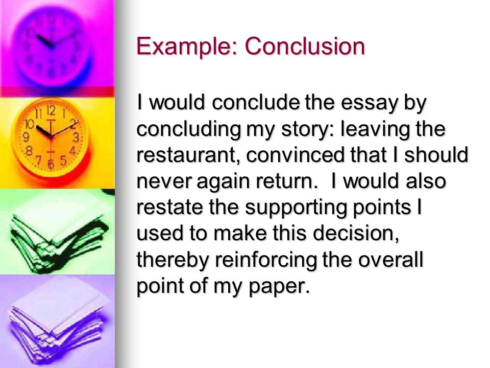 Example: Conclusion