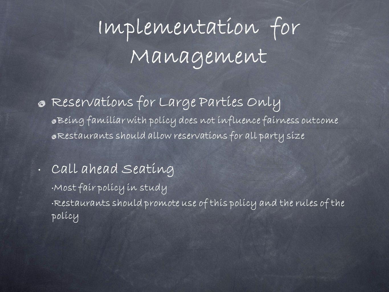 Implementation for Management