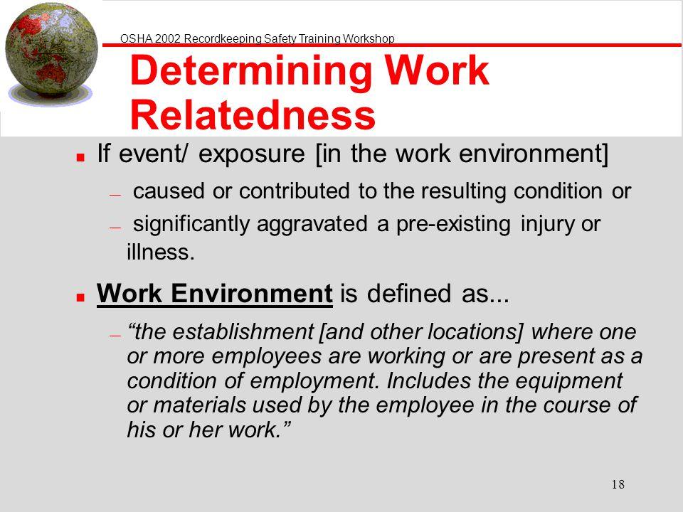 Determining Work Relatedness