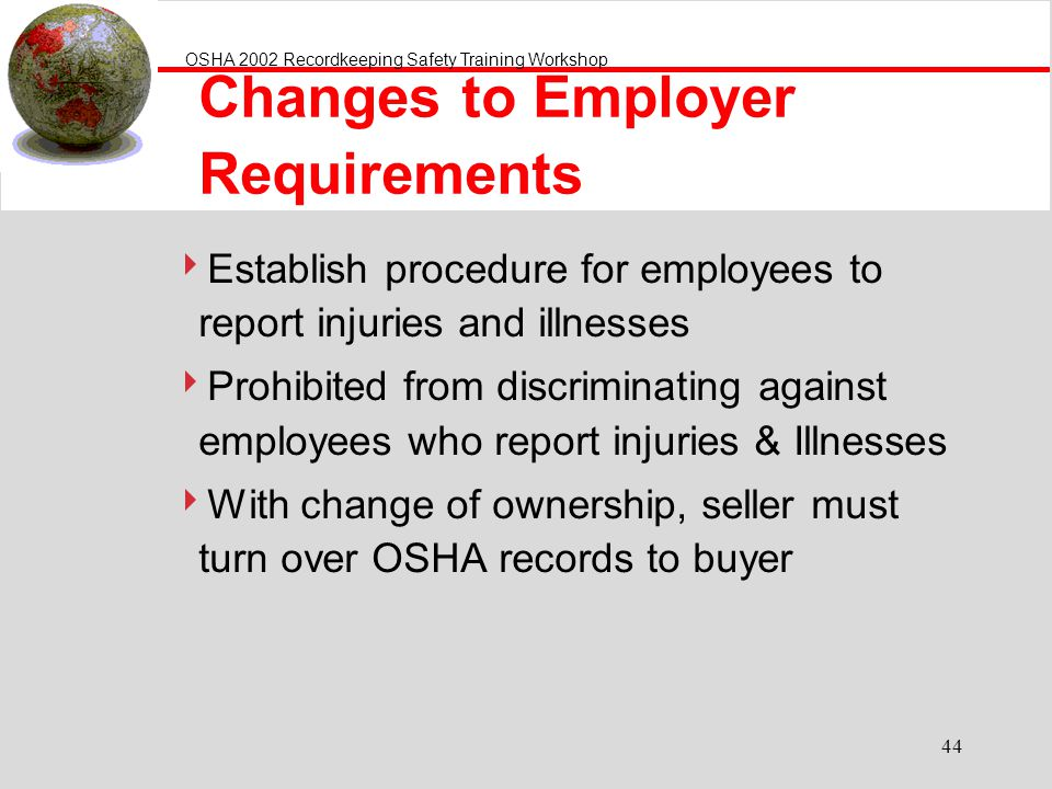 Changes to Employer Requirements