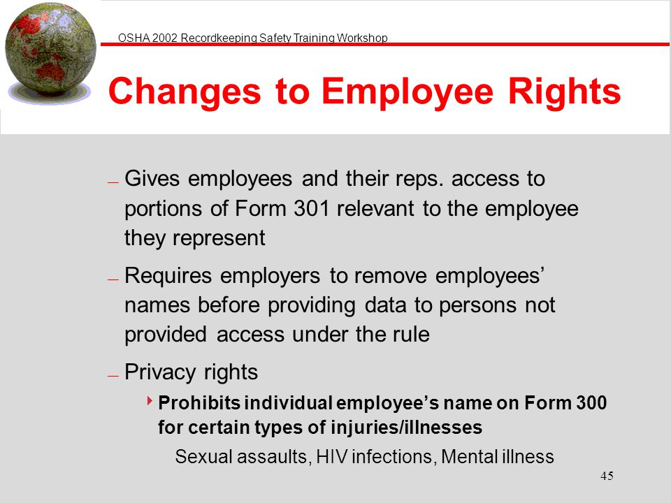 Changes to Employee Rights