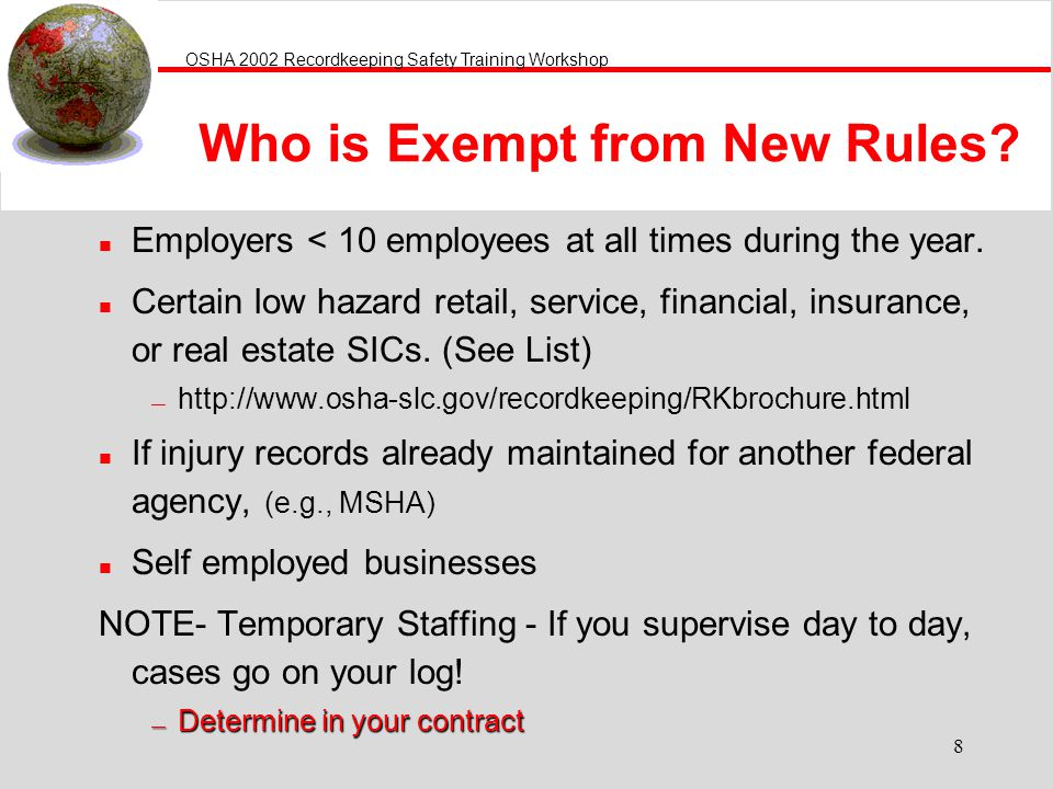 Who is Exempt from New Rules