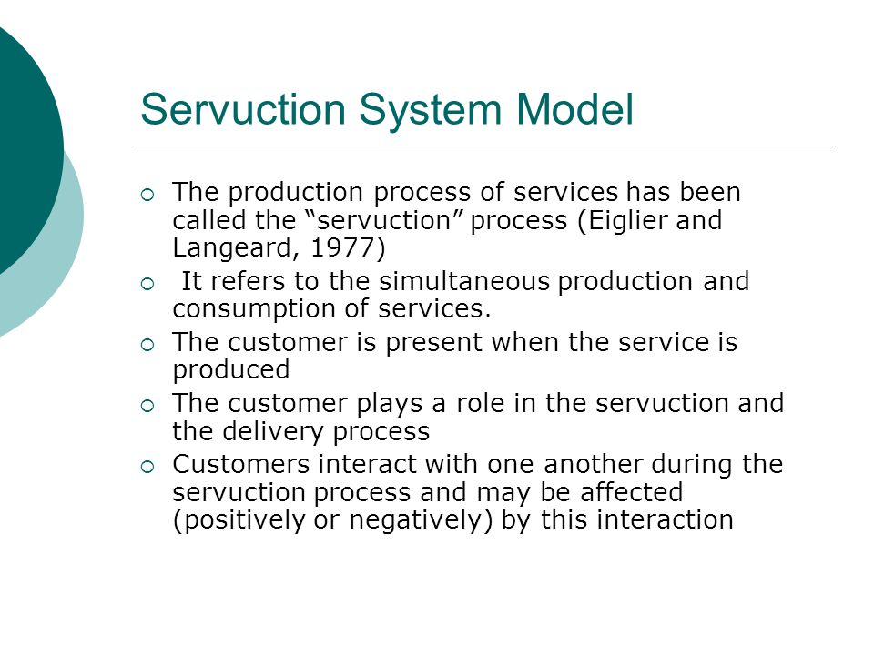 Servuction System Model