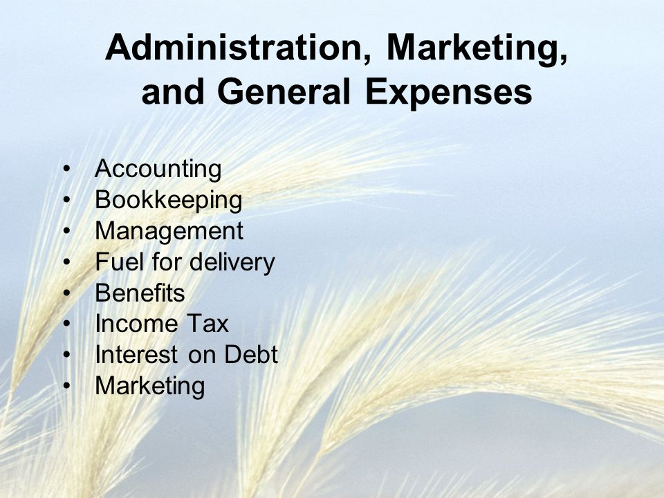 Administration, Marketing, and General Expenses