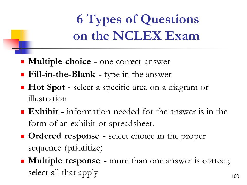 6 Types of Questions on the NCLEX Exam