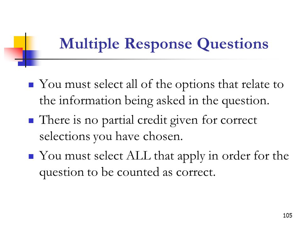 Multiple Response Questions