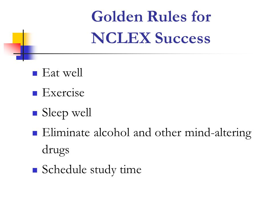 Golden Rules for NCLEX Success