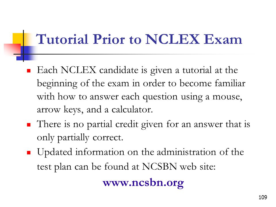 Tutorial Prior to NCLEX Exam