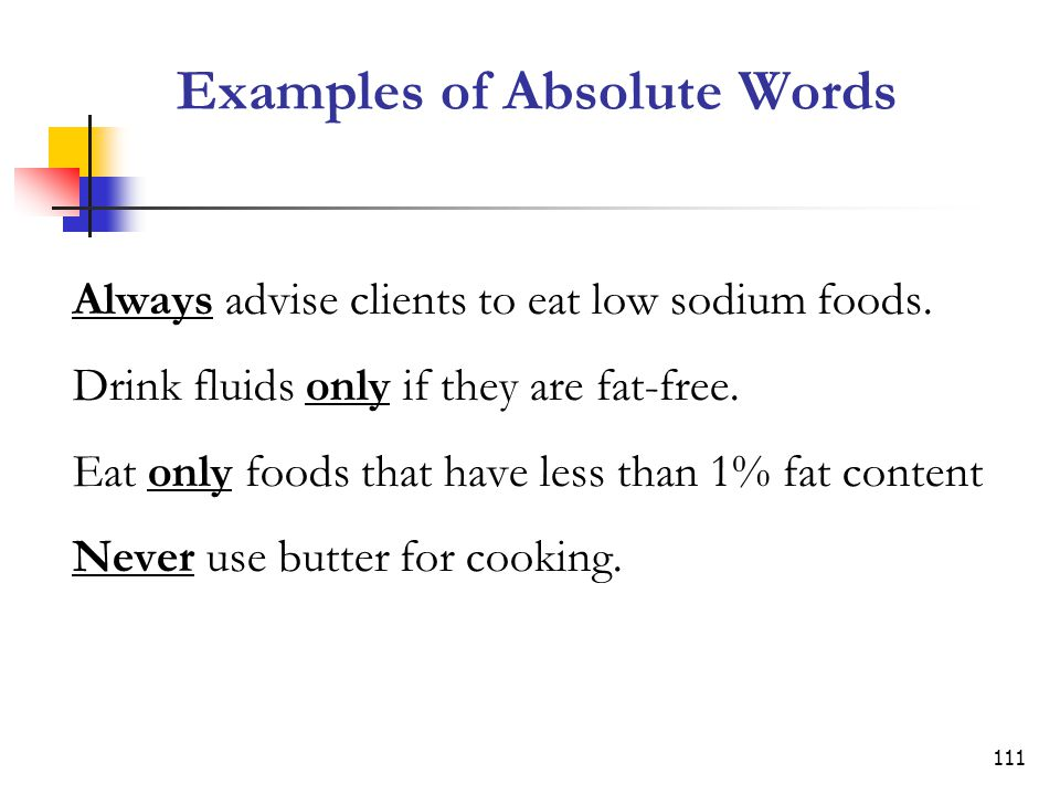 Examples of Absolute Words