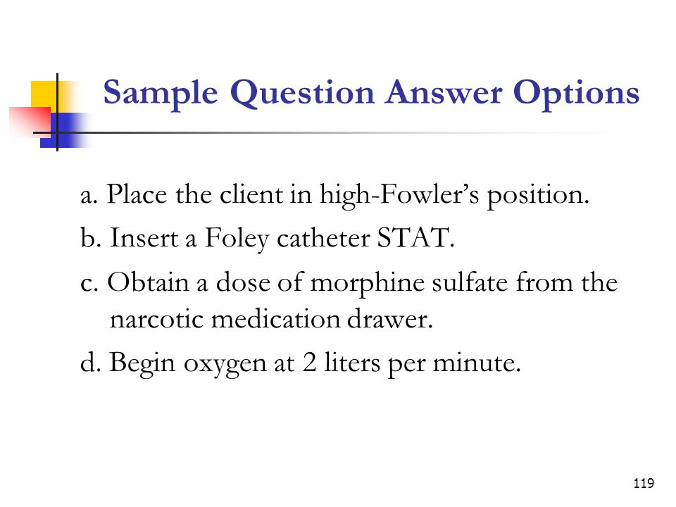 Sample Question Answer Options