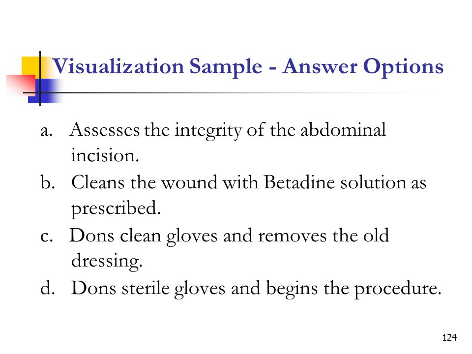 Visualization Sample - Answer Options