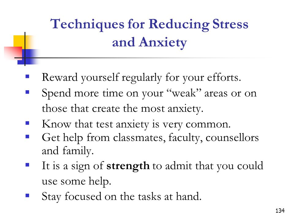 Techniques for Reducing Stress and Anxiety