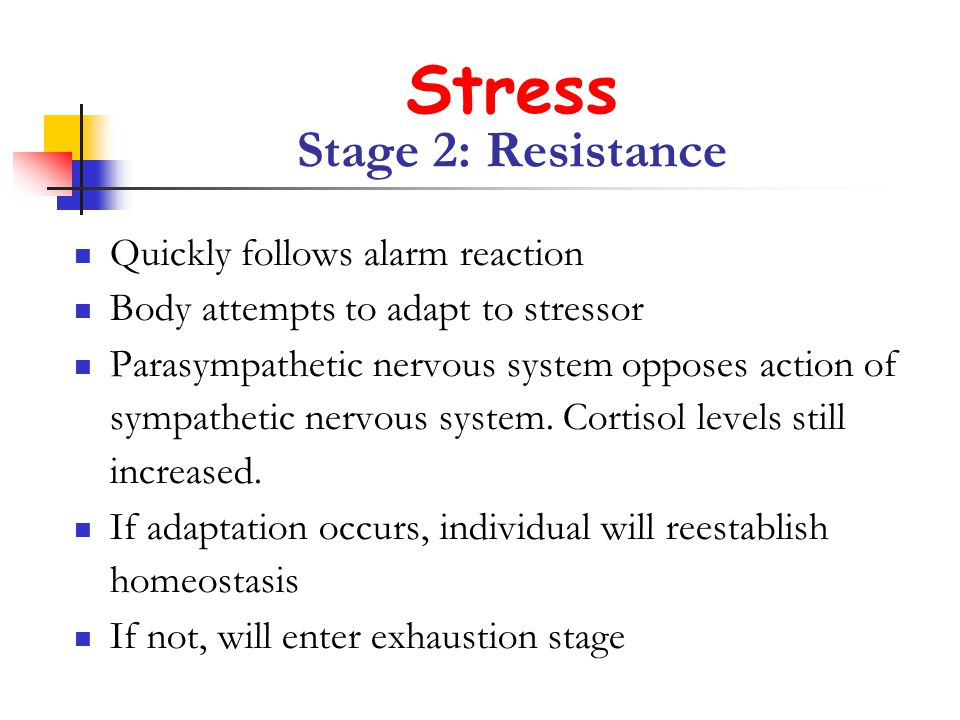 Stress Stage 2: Resistance