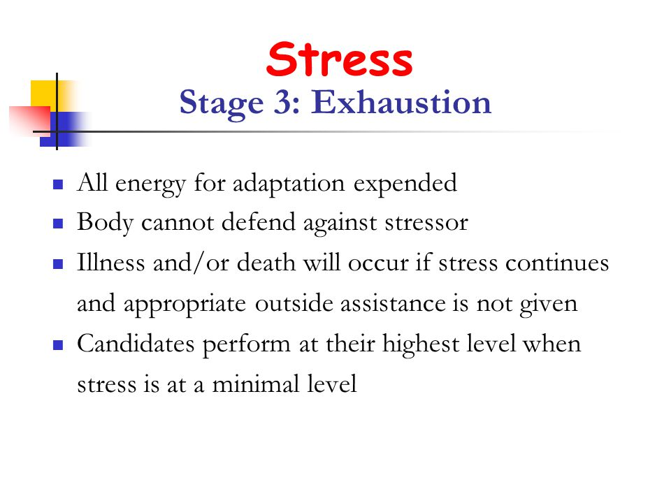 Stress Stage 3: Exhaustion