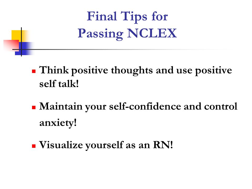 Final Tips for Passing NCLEX