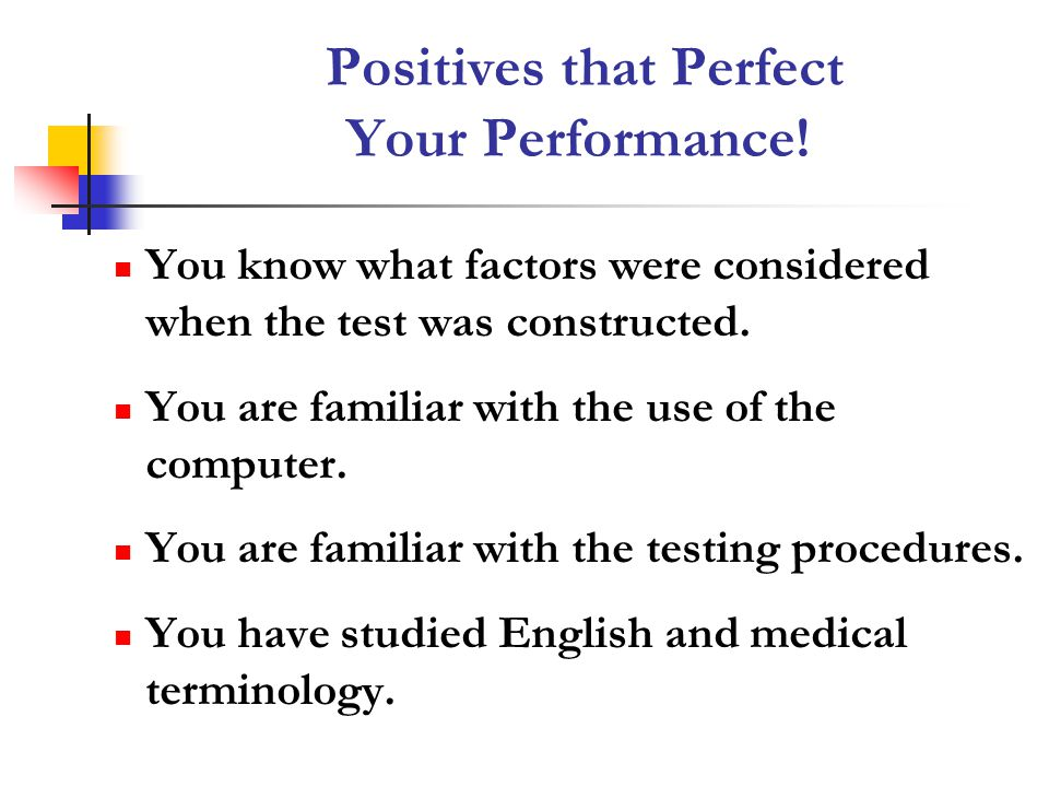 Positives that Perfect Your Performance!