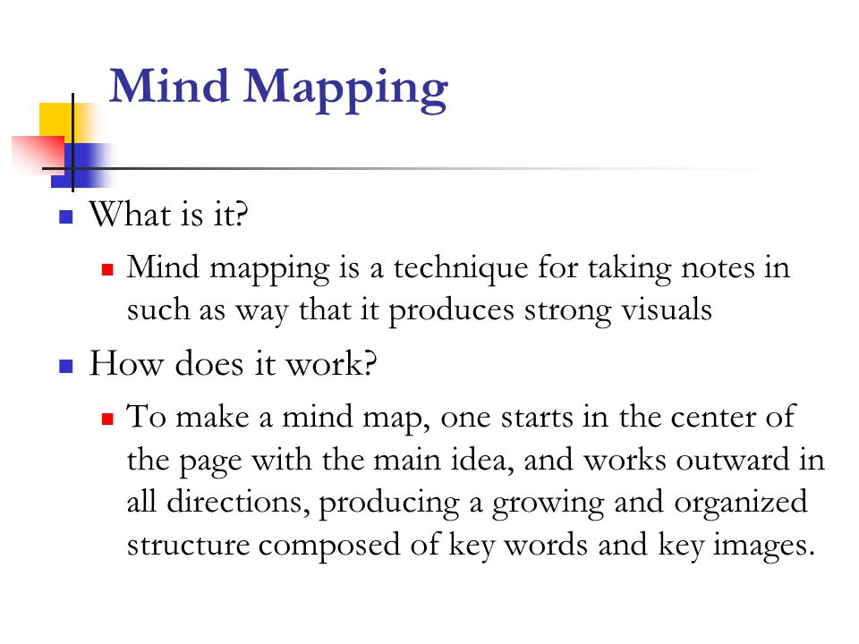 Mind Mapping What is it How does it work