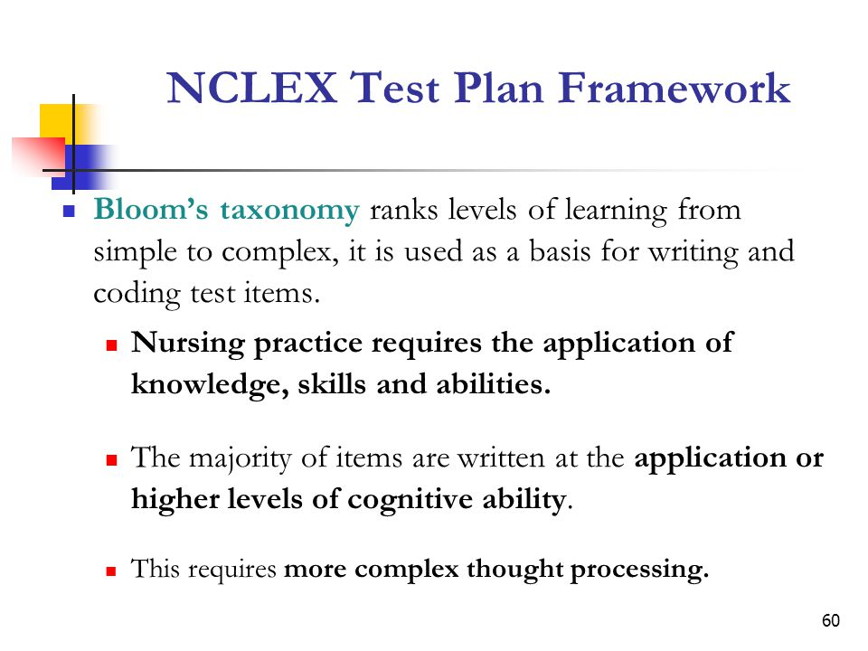 NCLEX Test Plan Framework