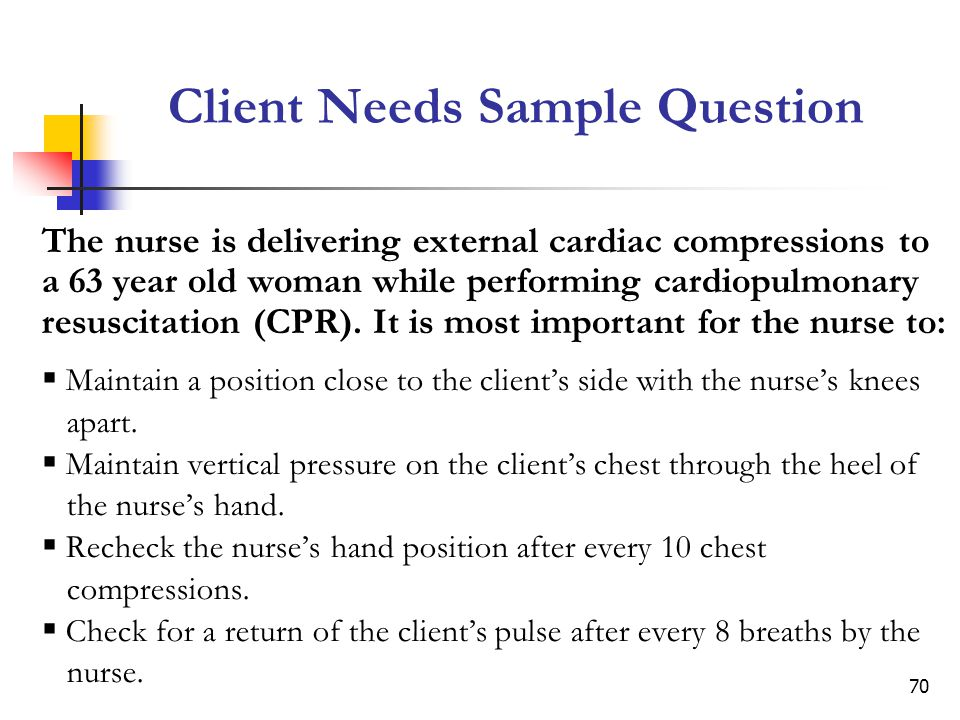 Client Needs Sample Question