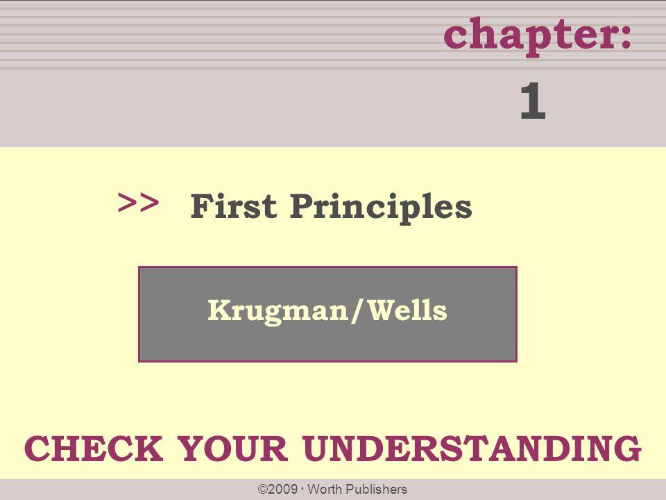 1 >> First Principles Krugman/Wells CHECK YOUR UNDERSTANDING