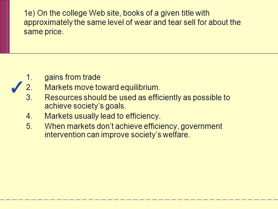 Markets move toward equilibrium.