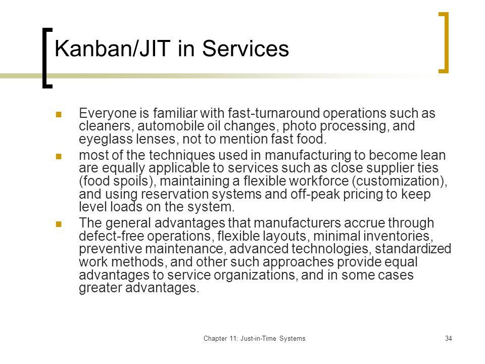 Kanban/JIT in Services