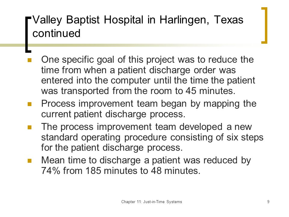 Valley Baptist Hospital in Harlingen, Texas continued