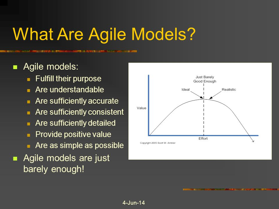 What Are Agile Models Agile models: