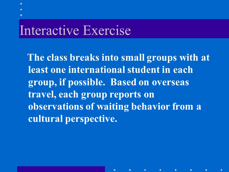 Interactive Exercise