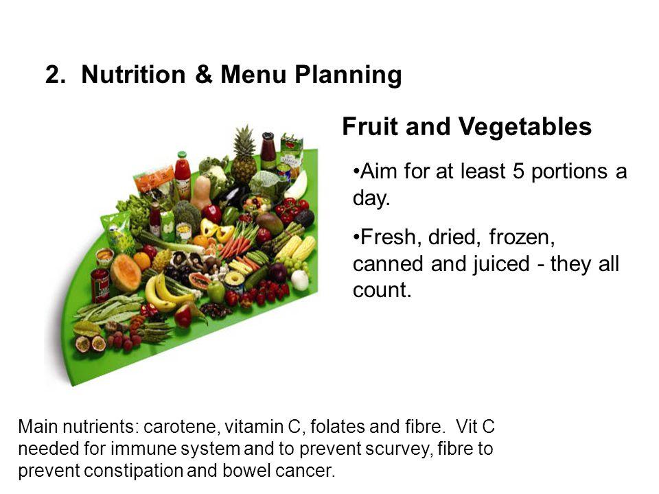 2. Nutrition & Menu Planning