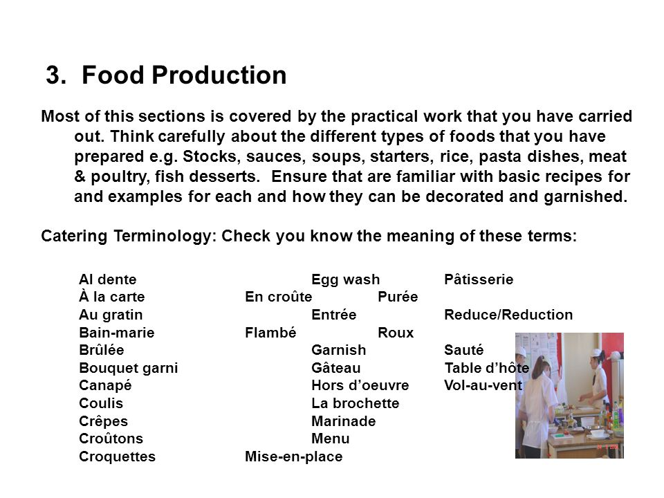 3. Food Production