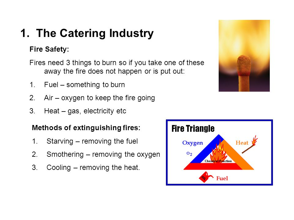 1. The Catering Industry Fire Safety: