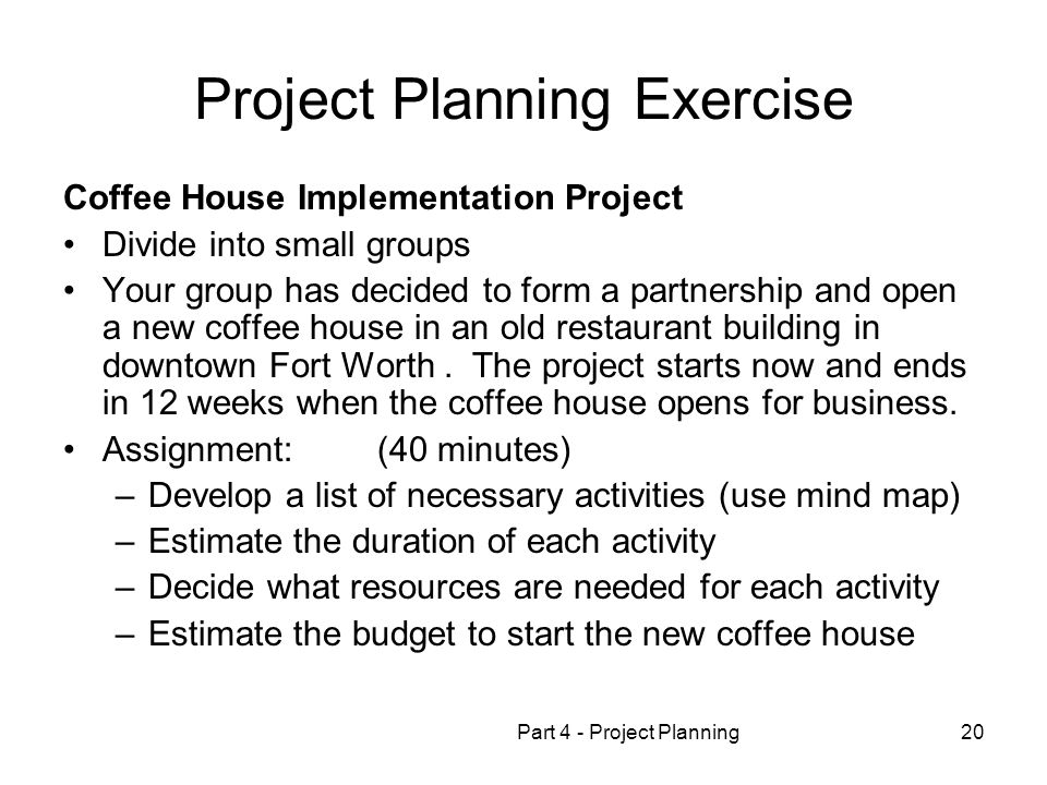 Project Planning Exercise