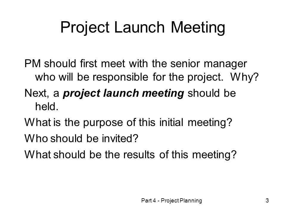 Project Launch Meeting