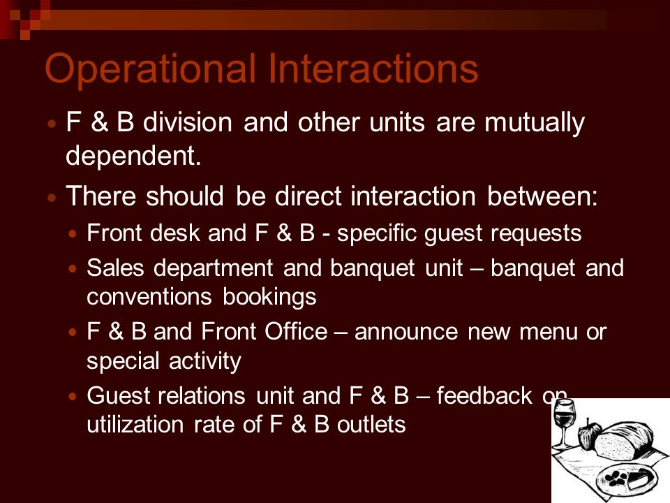 Operational Interactions