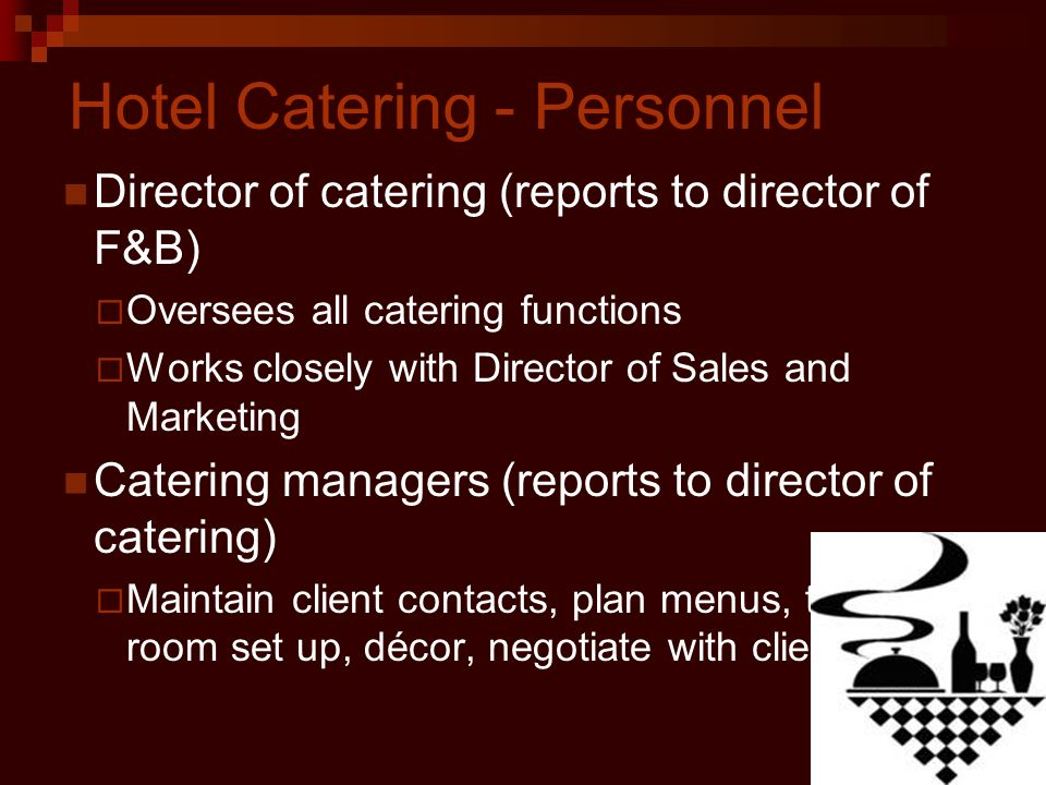 Hotel Catering - Personnel