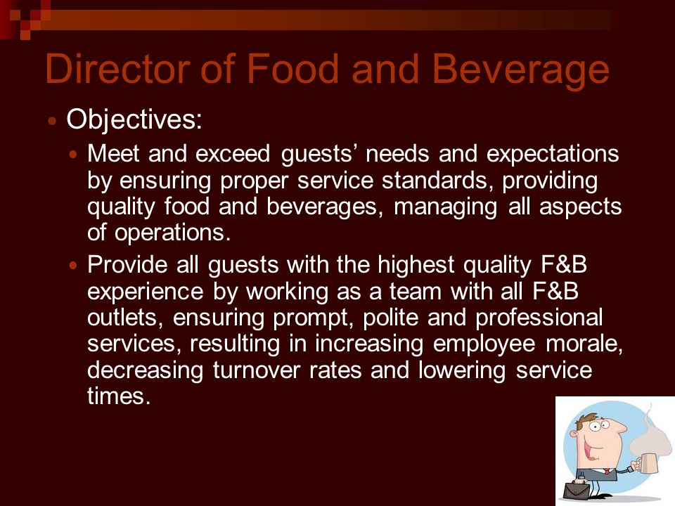 Director of Food and Beverage