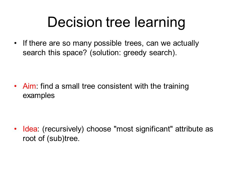Decision tree learning