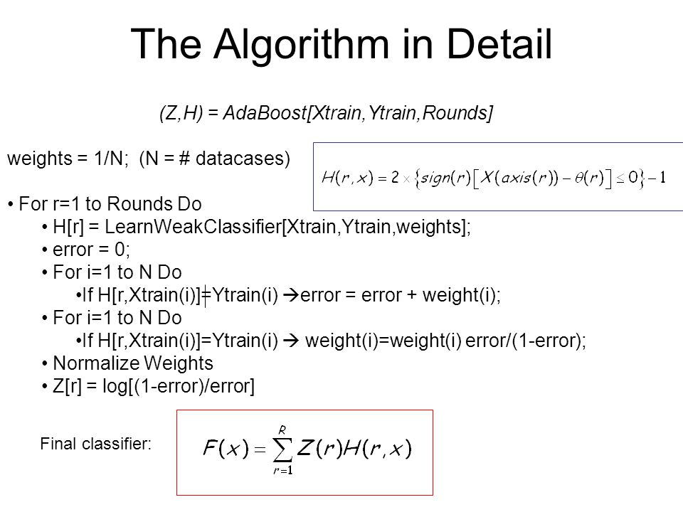 The Algorithm in Detail