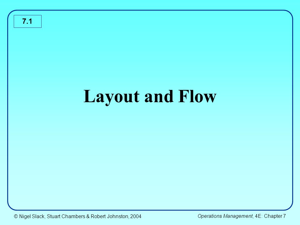 Layout and Flow