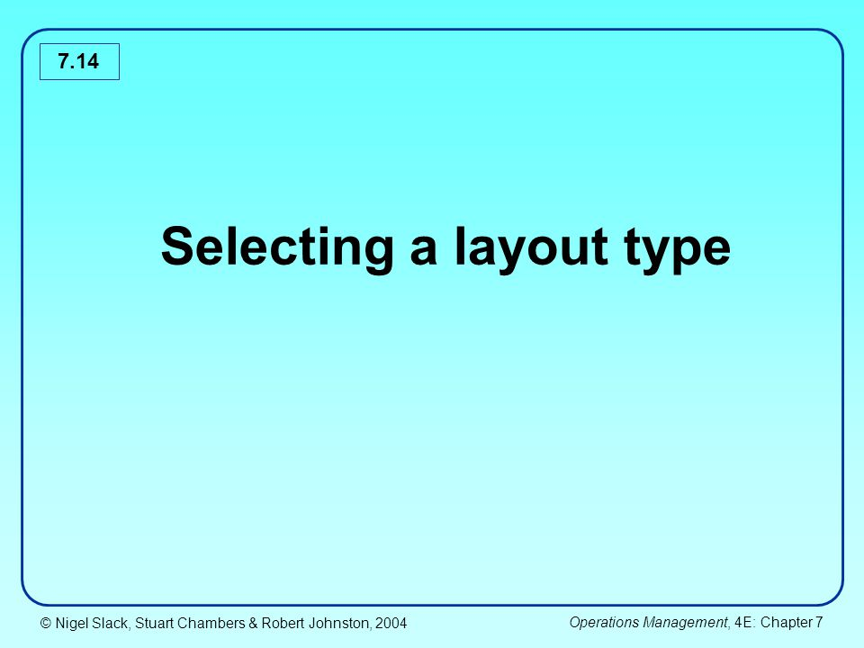 Selecting a layout type
