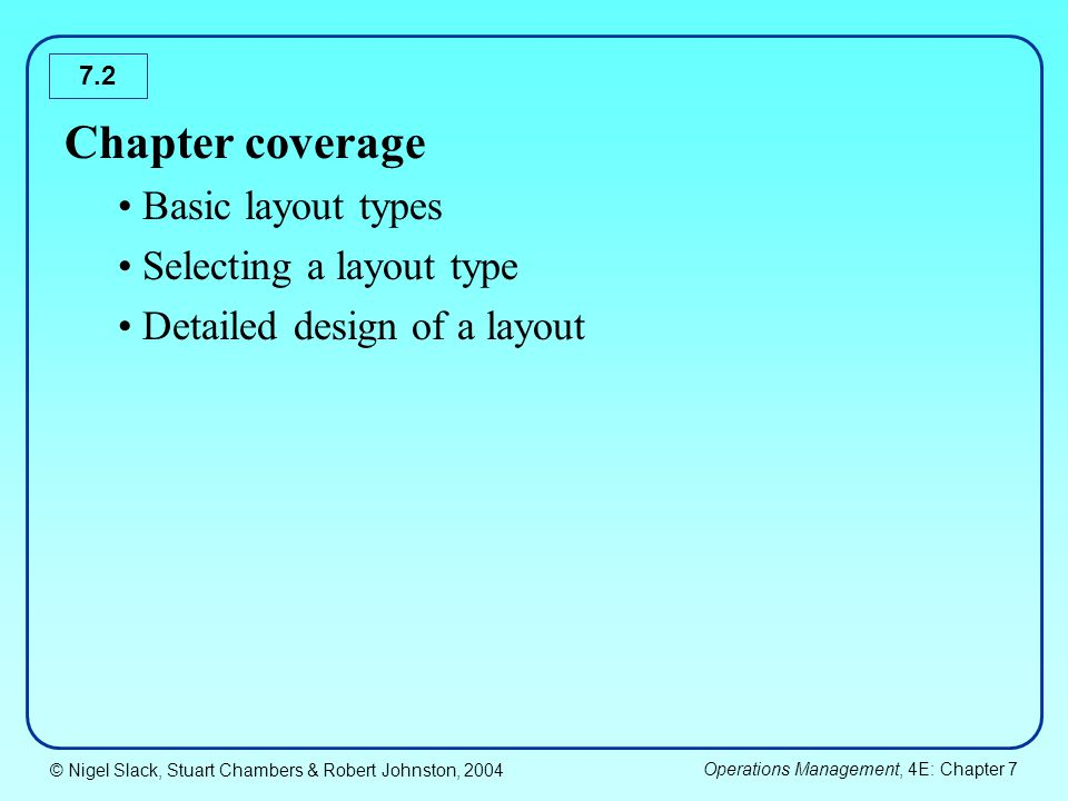 Chapter coverage Basic layout types Selecting a layout type